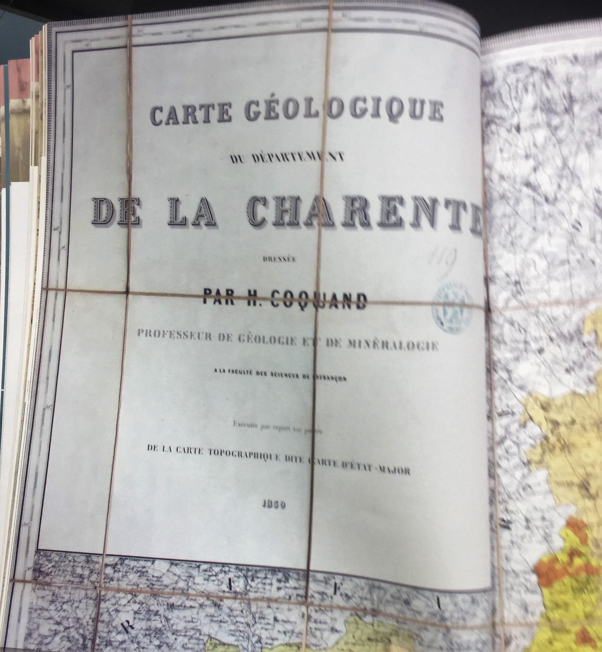 l'ouvrage de référence du professeur Coquand qui a délimité les différents crus de cognac