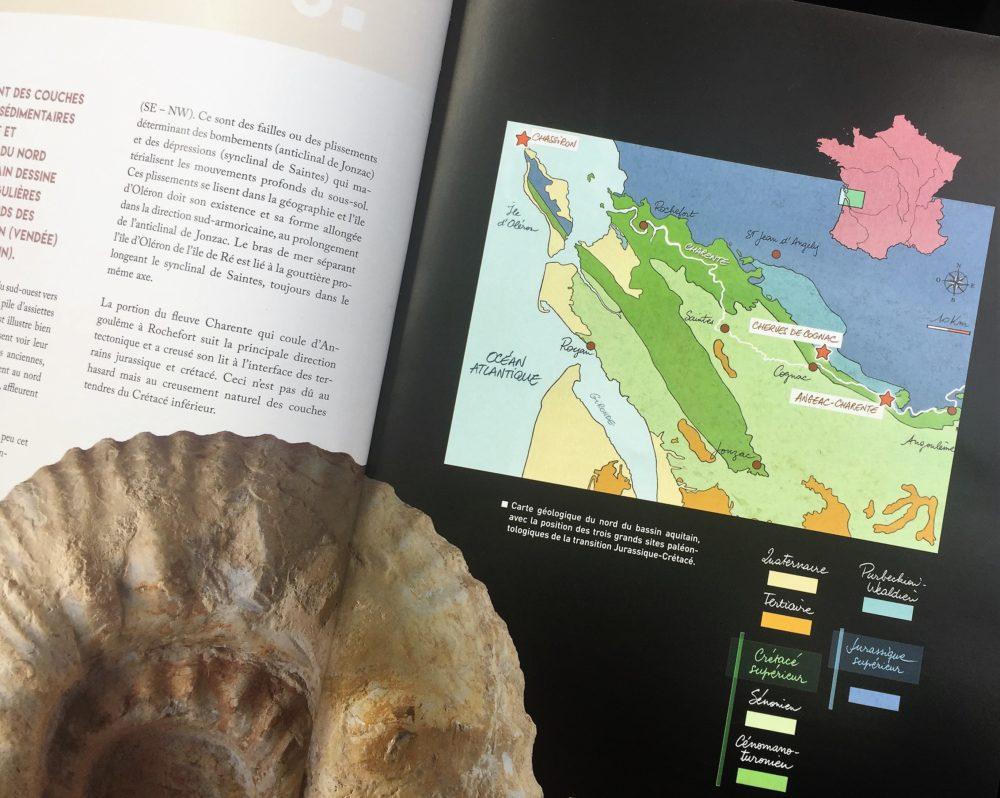 la carte géologique du territoire délimité AOC cognac