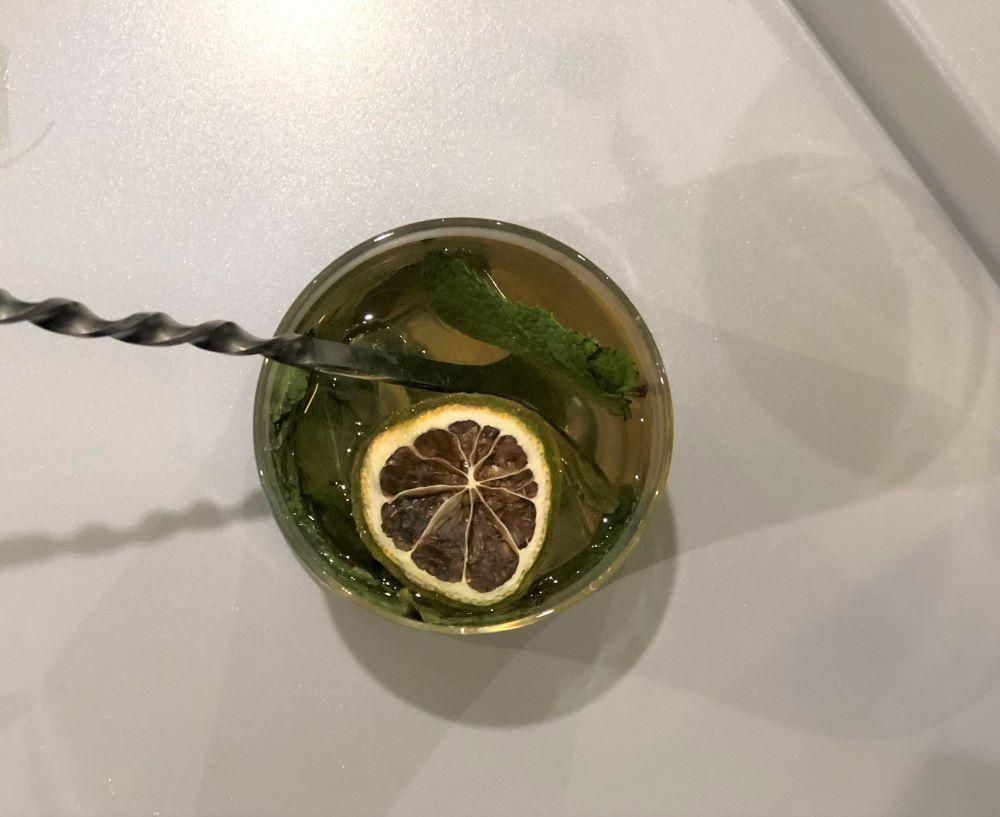 cocktail réalisé lors de l'atelier mixologie Hennessy VS Felipe Pantone