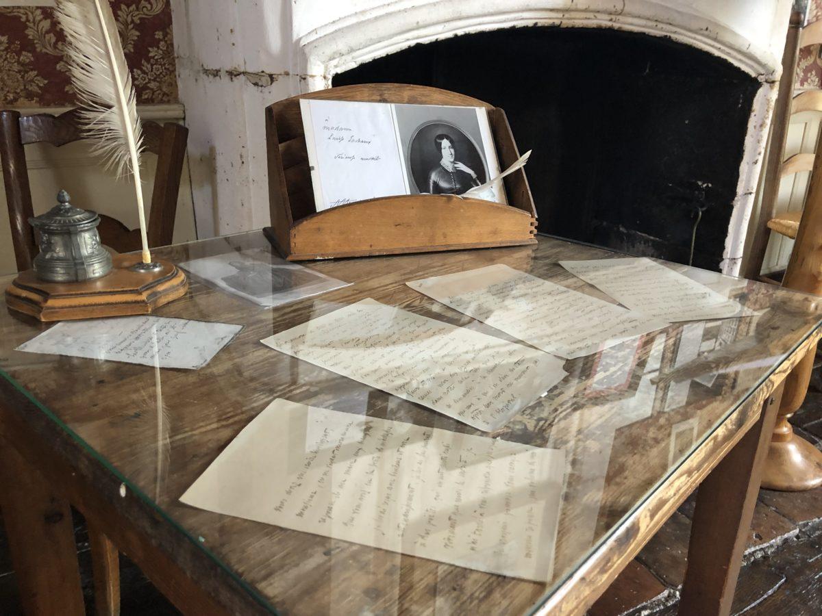 l'espace muséographique du domaine de cognac du Maine Giraud ancienne propriété d'Alfred de Vigny
