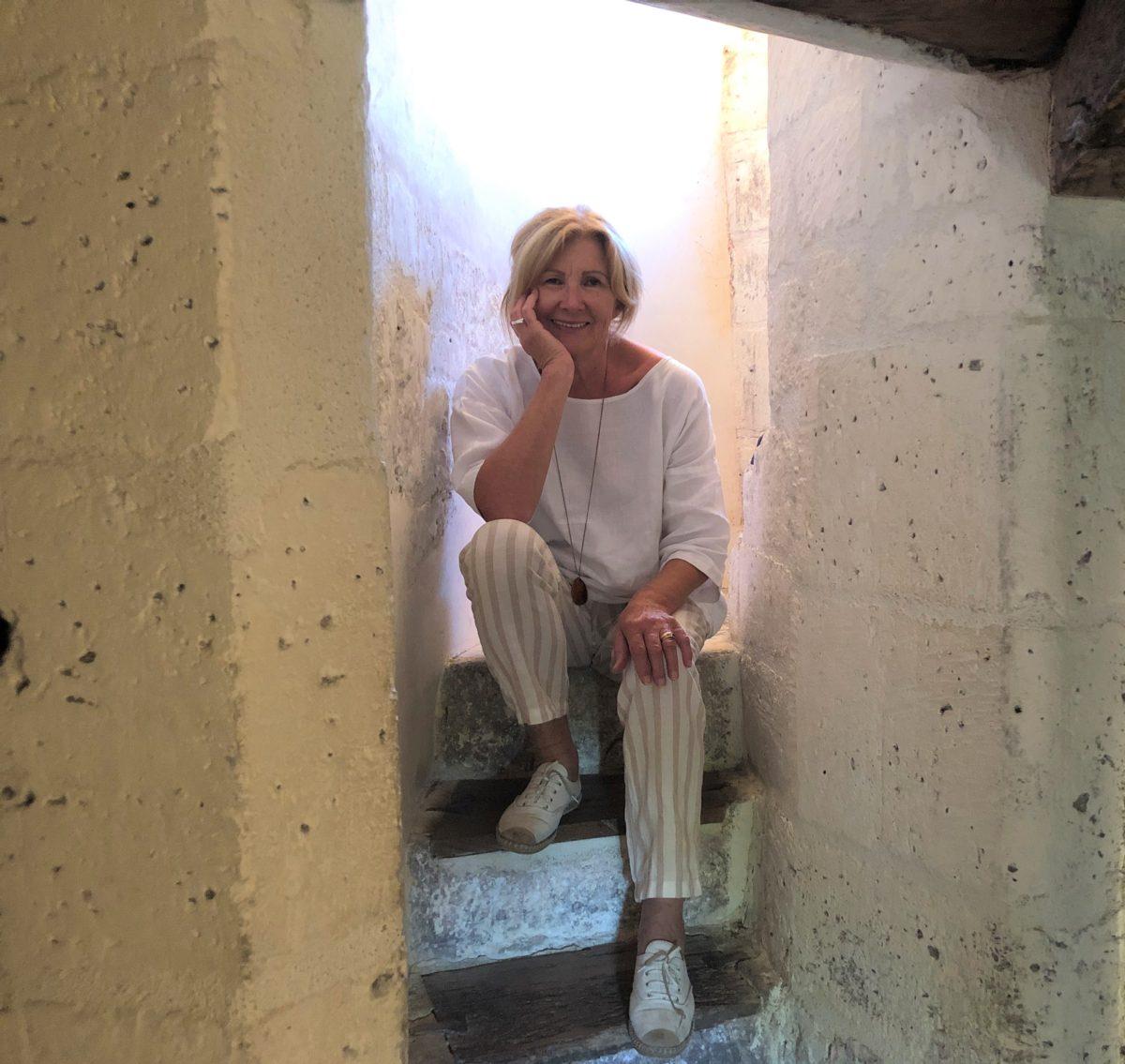 living in cognac dans l'escalier du maine giraud ancienne propriété de cognac d'Alfred de Vigny