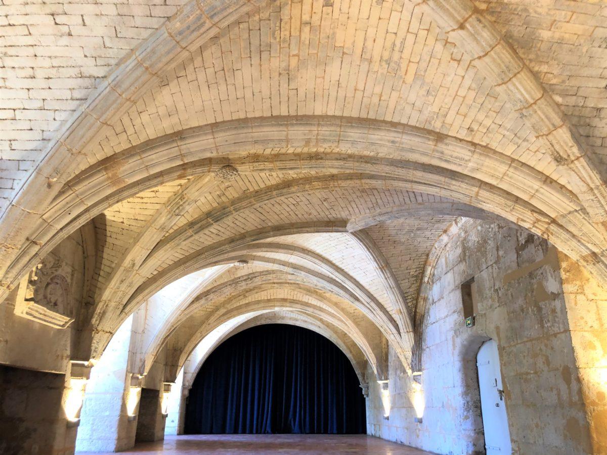 le plafond de la grande salle du château royal de Cognac