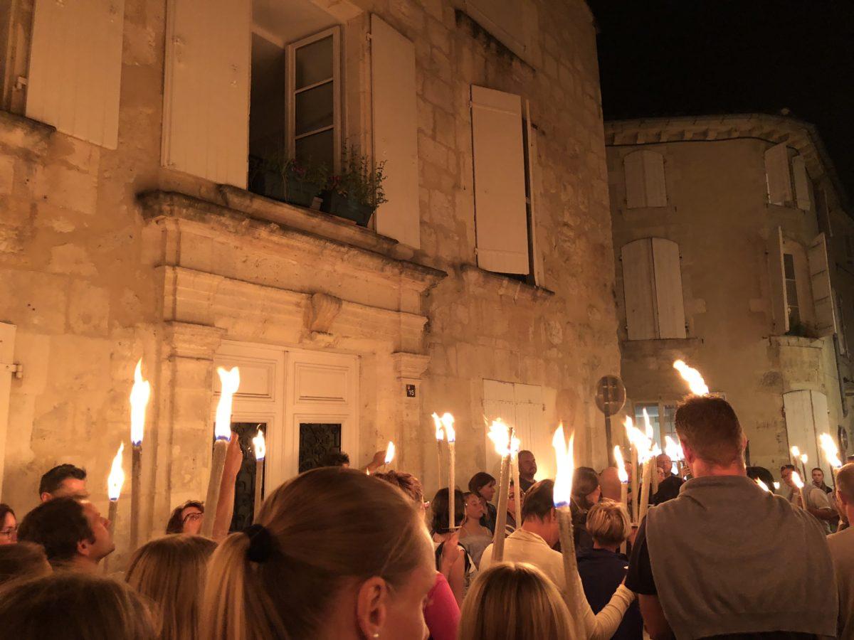 la visite aux flambeaux du vieux Cognac