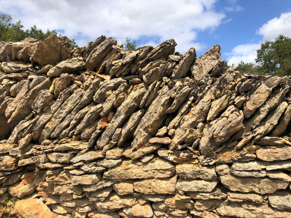 les murs en pierre des clos clunisiens