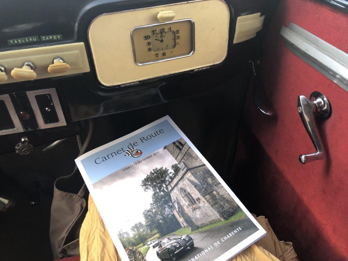 le road book du rallye international