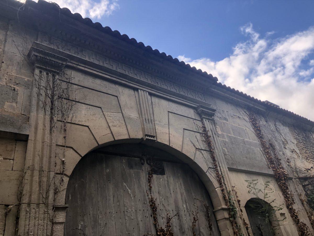 l'ancienne entrée du domaine du pineau François 1er