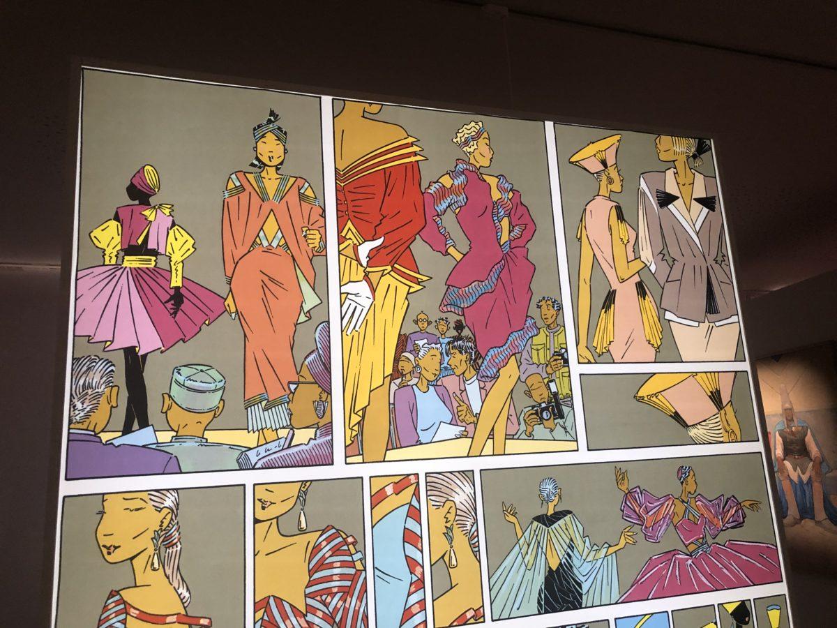 détail de l'exposition mode et bande dessinée