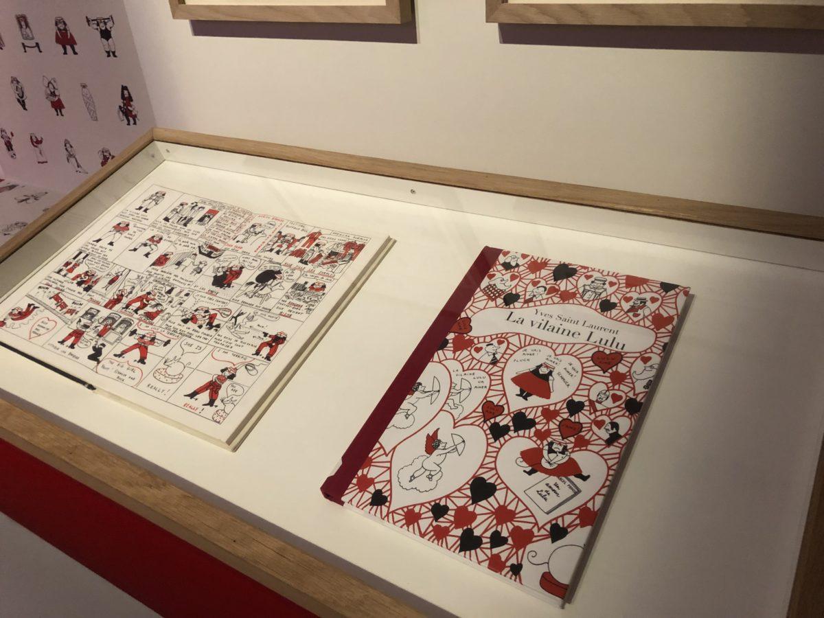 la bande dessinée d'Yves Saint Laurent expo Mode et bande dessinée