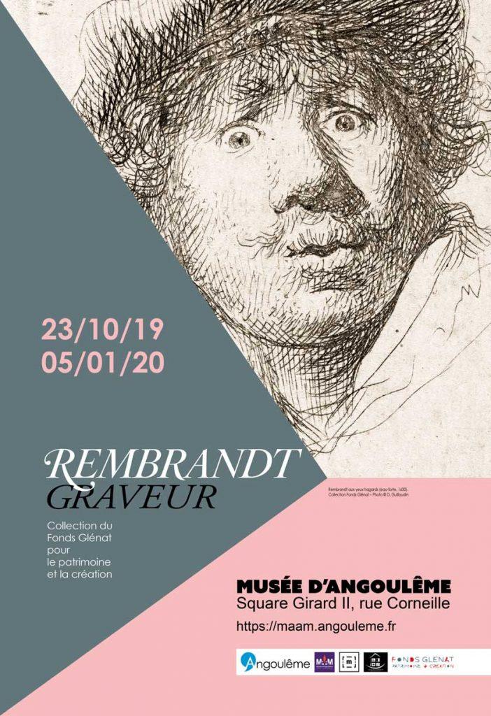 affiche de l'expositin Rembrandt graveur