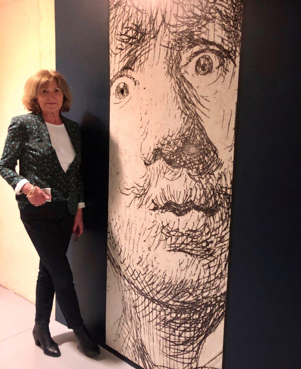 A l'entrée de l'exposition Rembrandt graveur