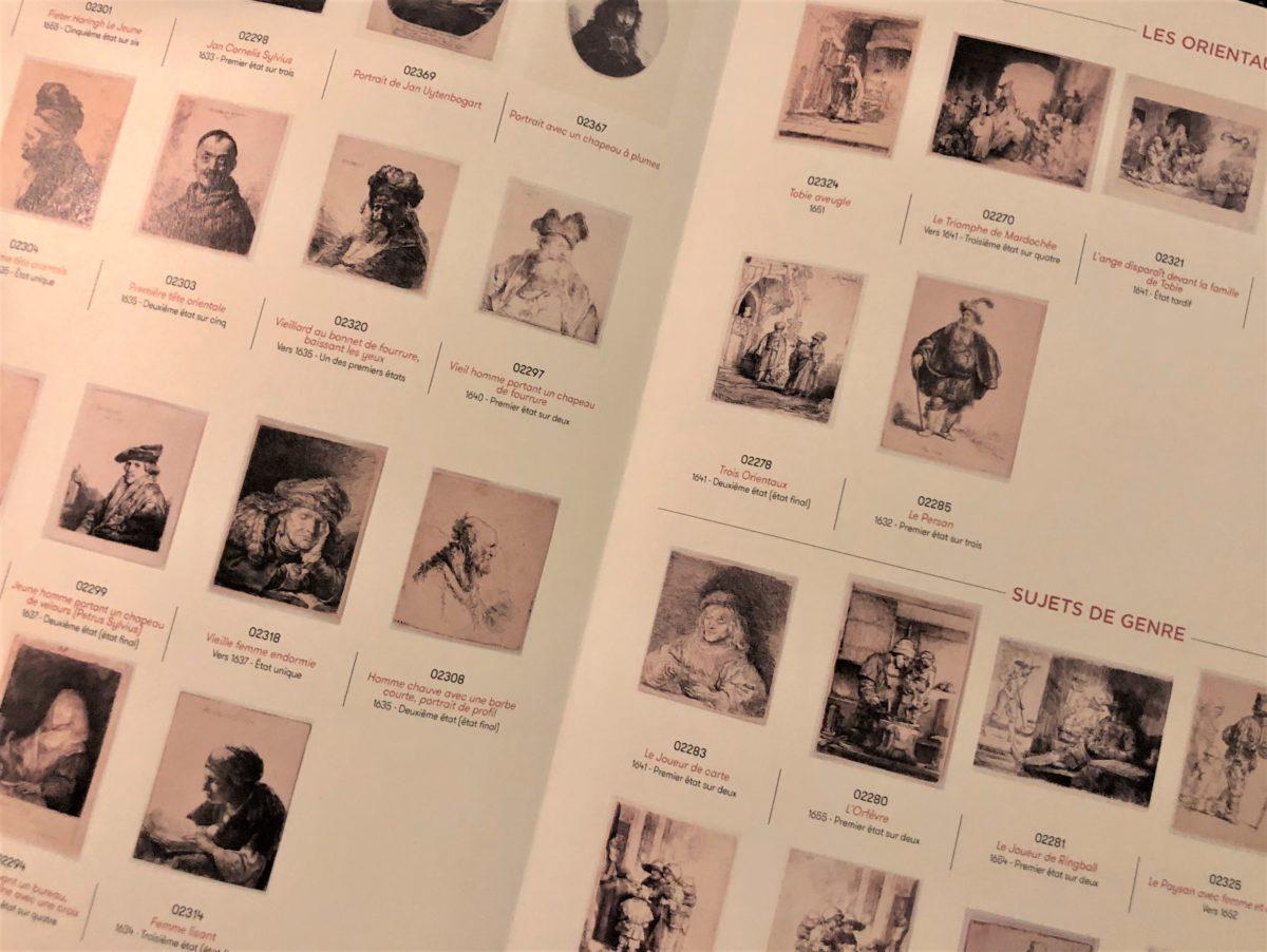 les différentes gravures de l'exposition Rembrandt graveur