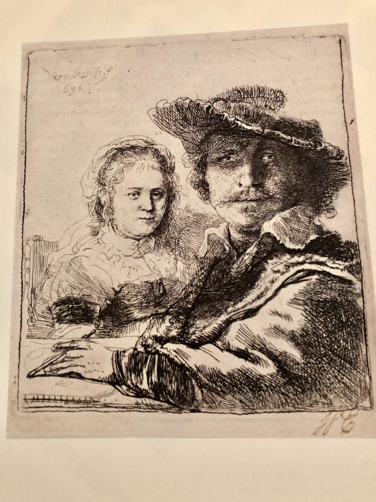 portrait de Rembrandt et de sa femme Saskia