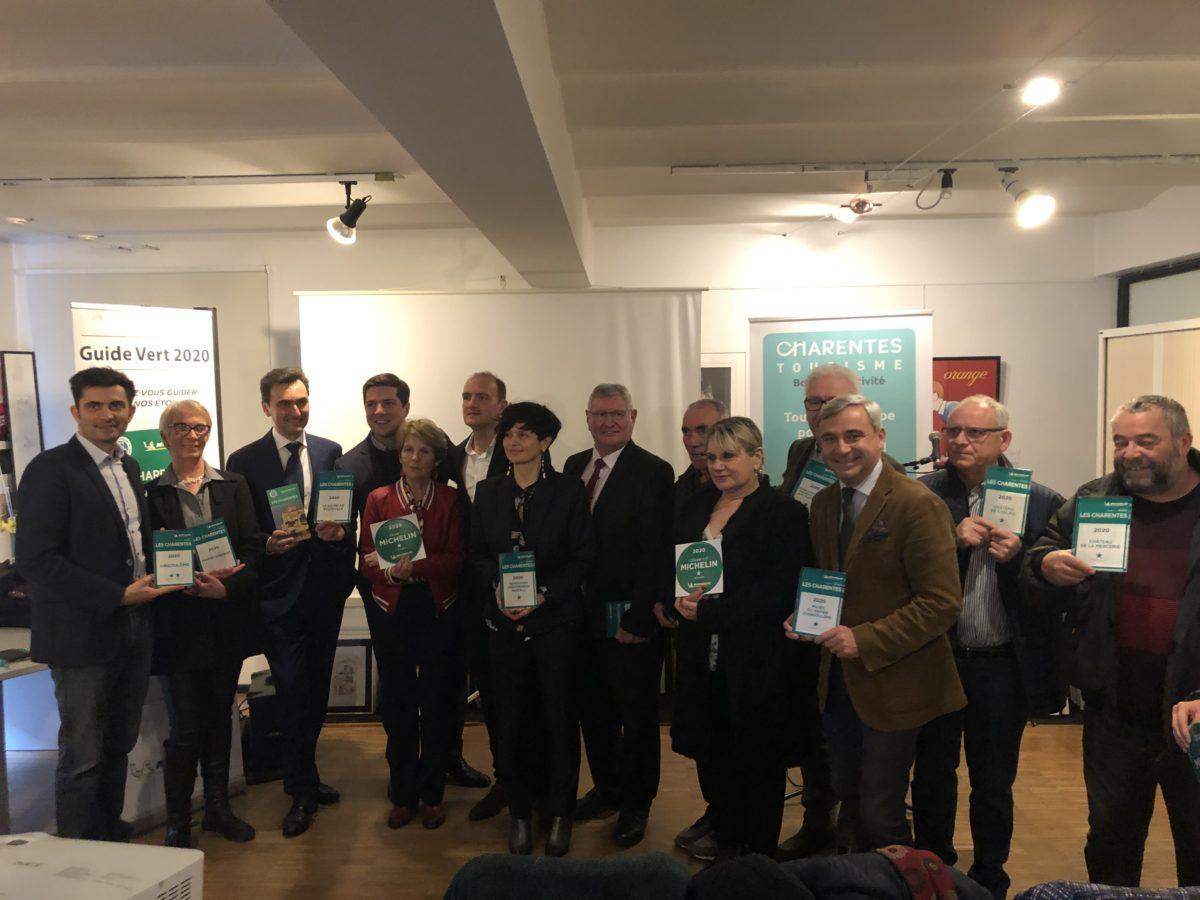 les étoiles du guide vert Michelin en Charente