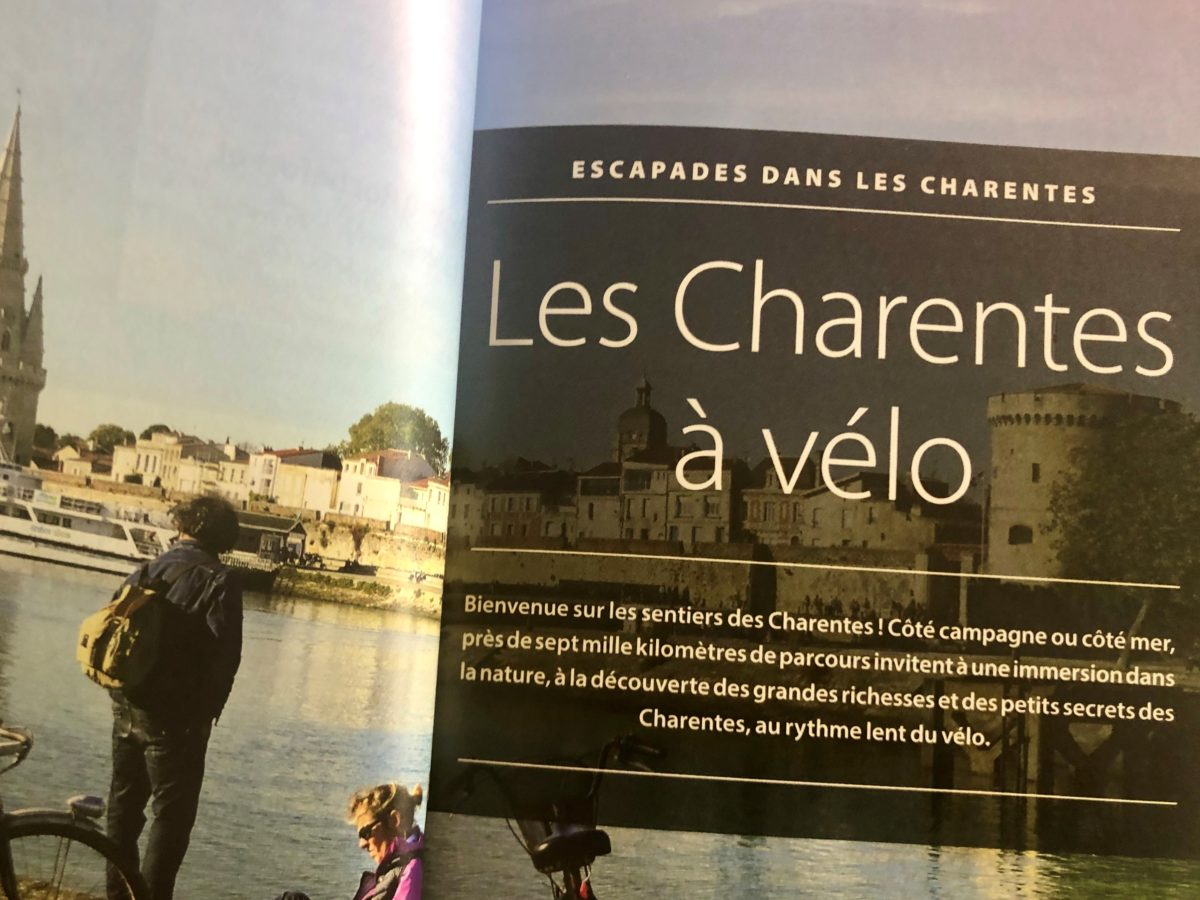 chapitre du guide vert Michelin Les Charentes consacré au vélo