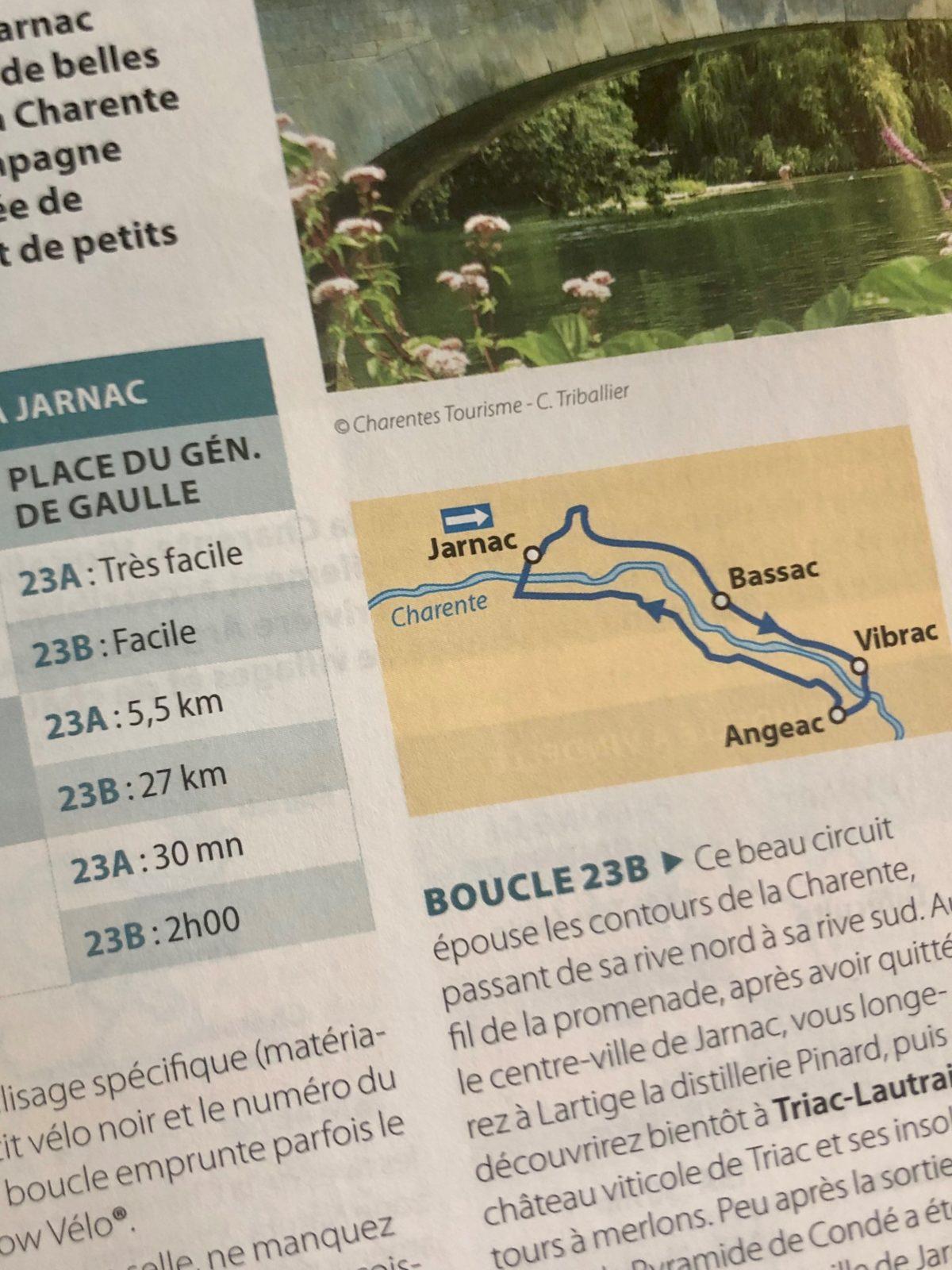 les circuits vélo dans le guide vert Michelin Les Charentes
