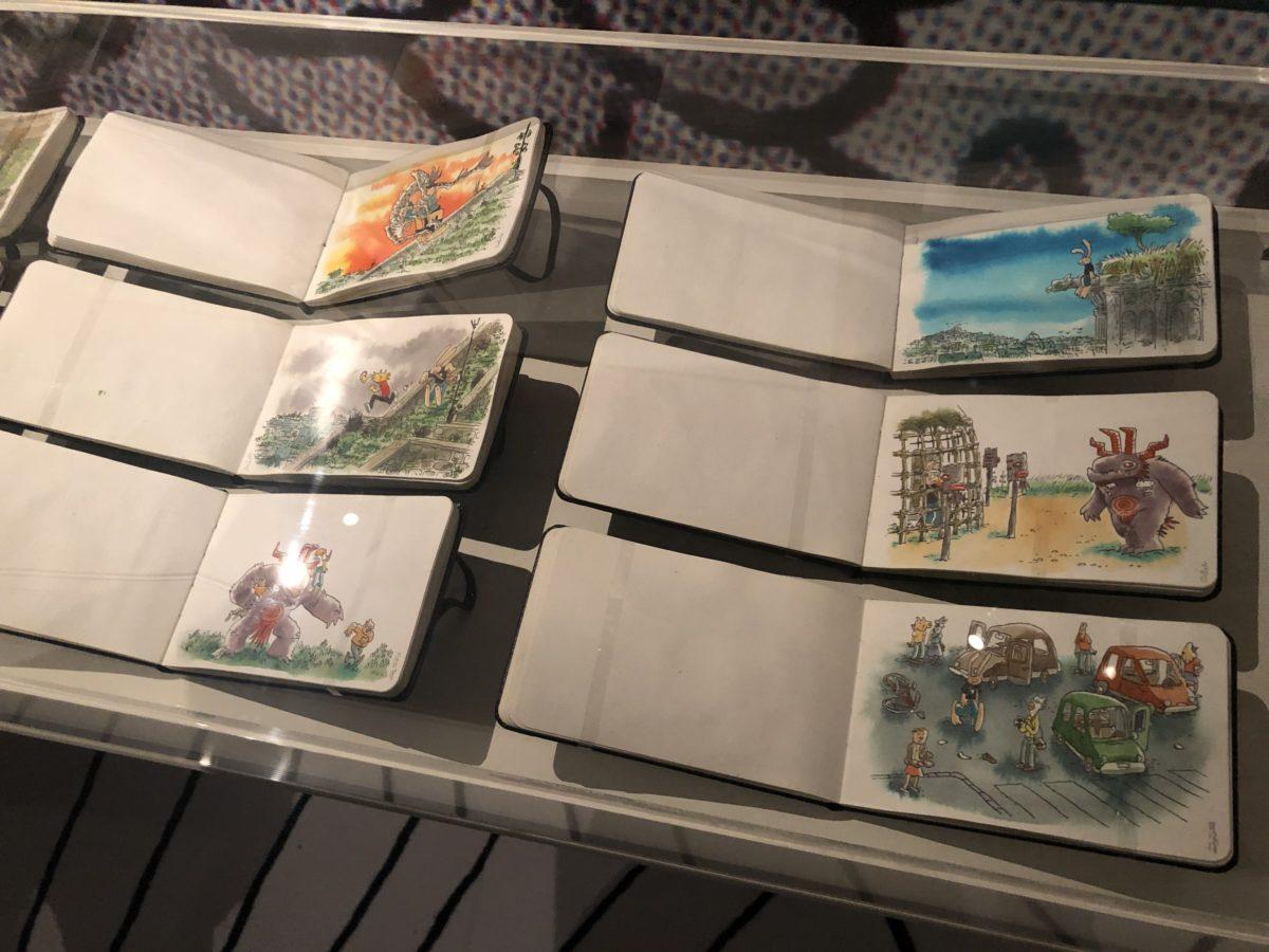 les carnets de Lewis Trondheim dans l'exposition qui lui est consacrée à la Cité internationale de la bande dessinée et de l'image