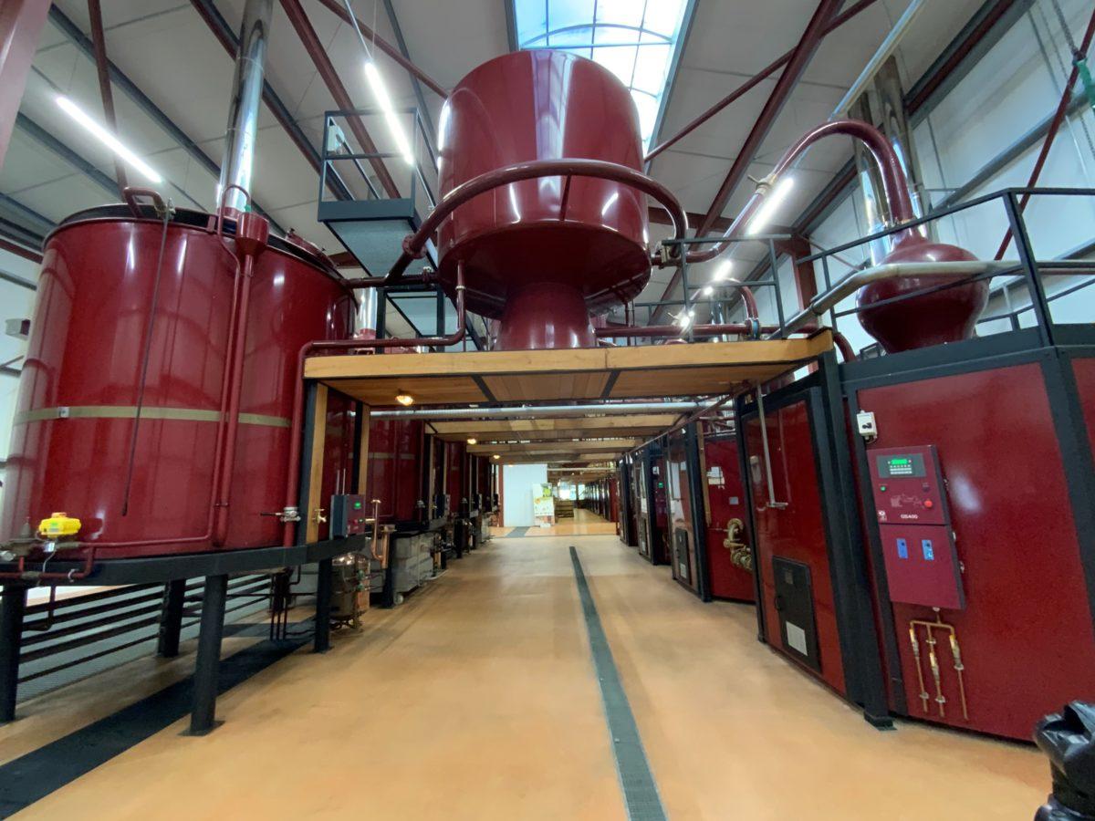vue générale de la distillerie de la tour