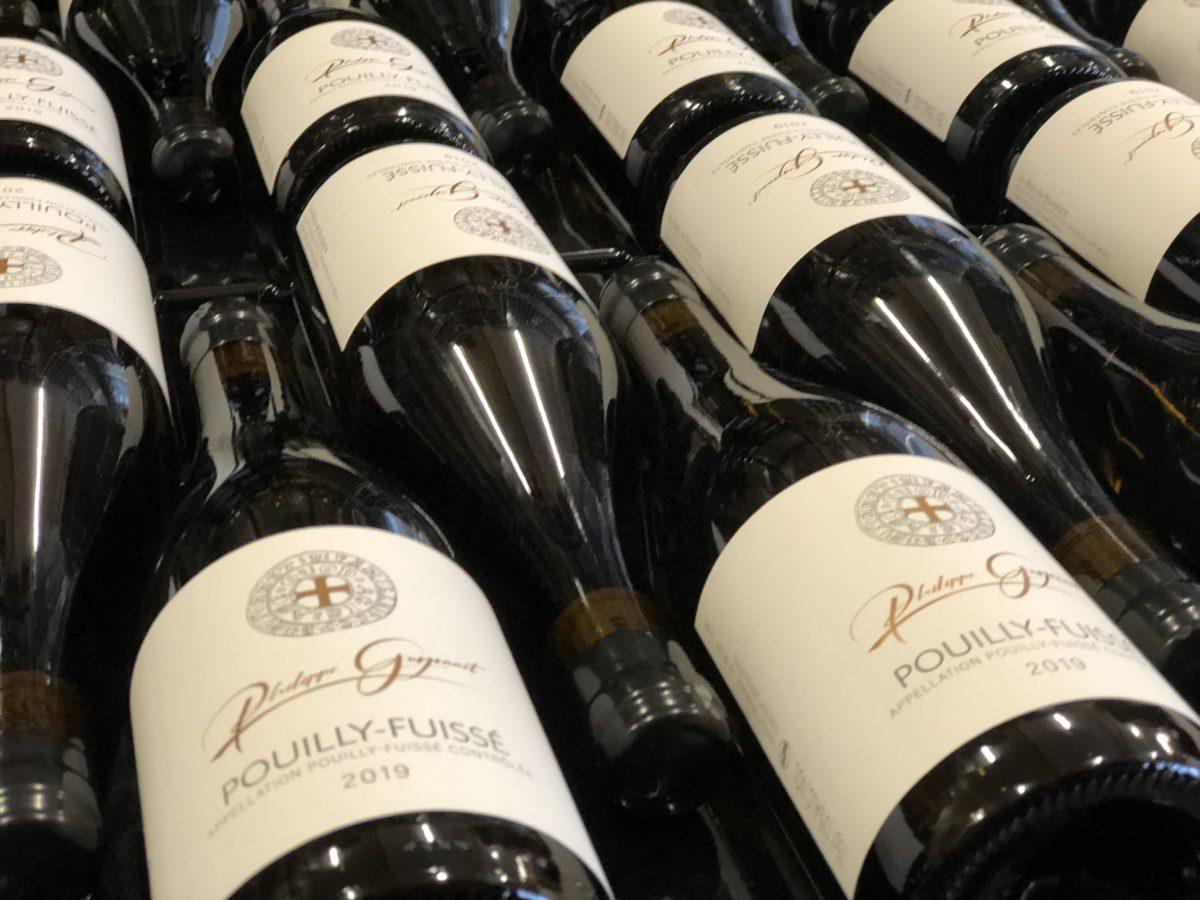 bouteilles de Pouilly Fuissé du domaine Philippe Guyonnet
