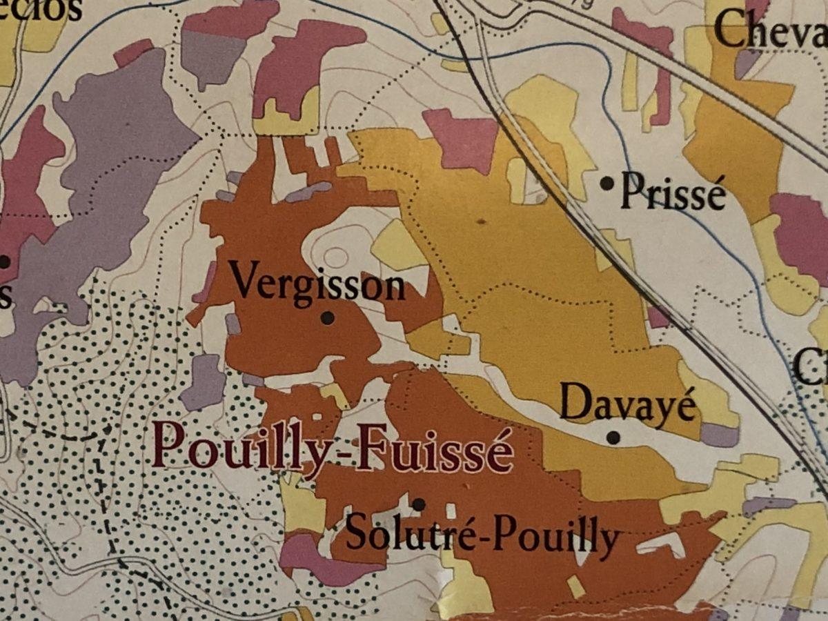 carte géologique du Pouilly Fuissé