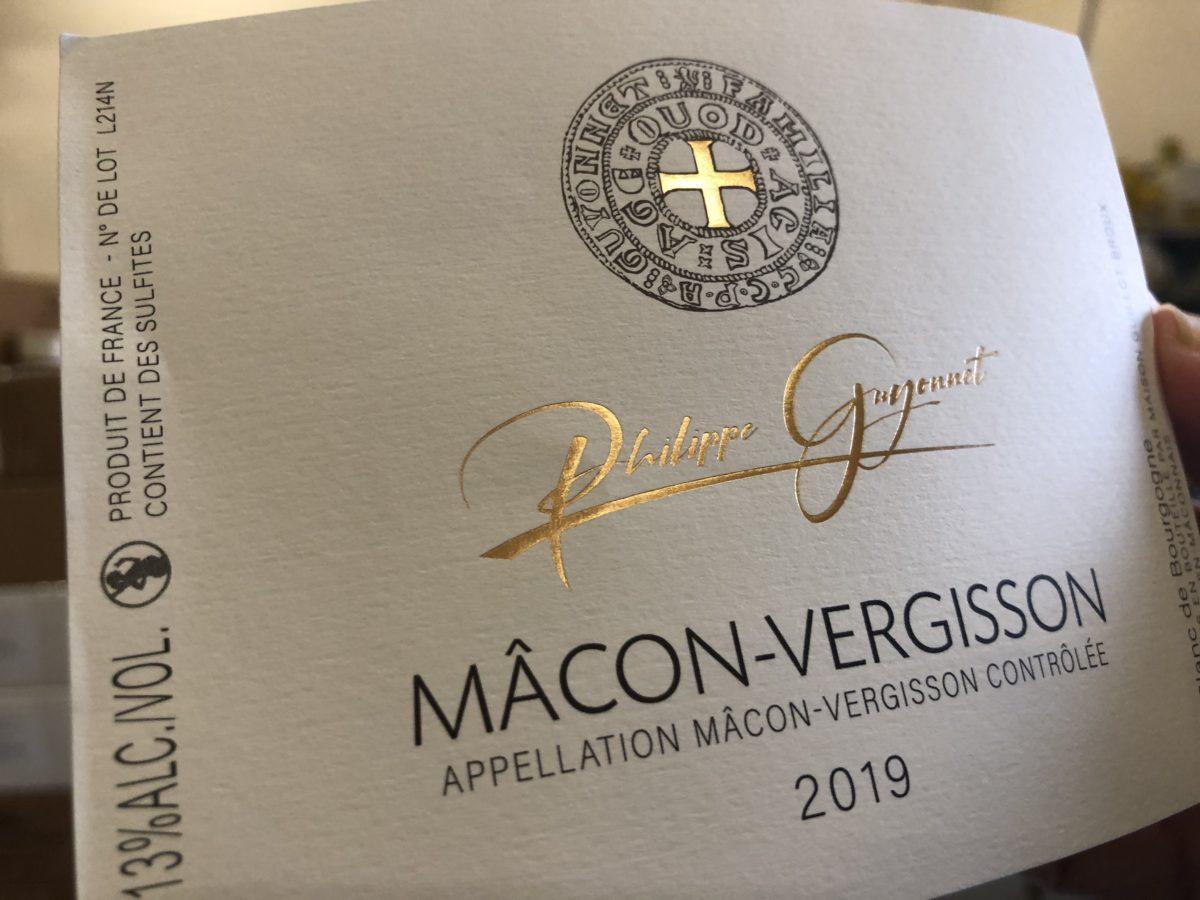 étiquette Mâcon-Vergisson Domaine Philippe Guyonnet