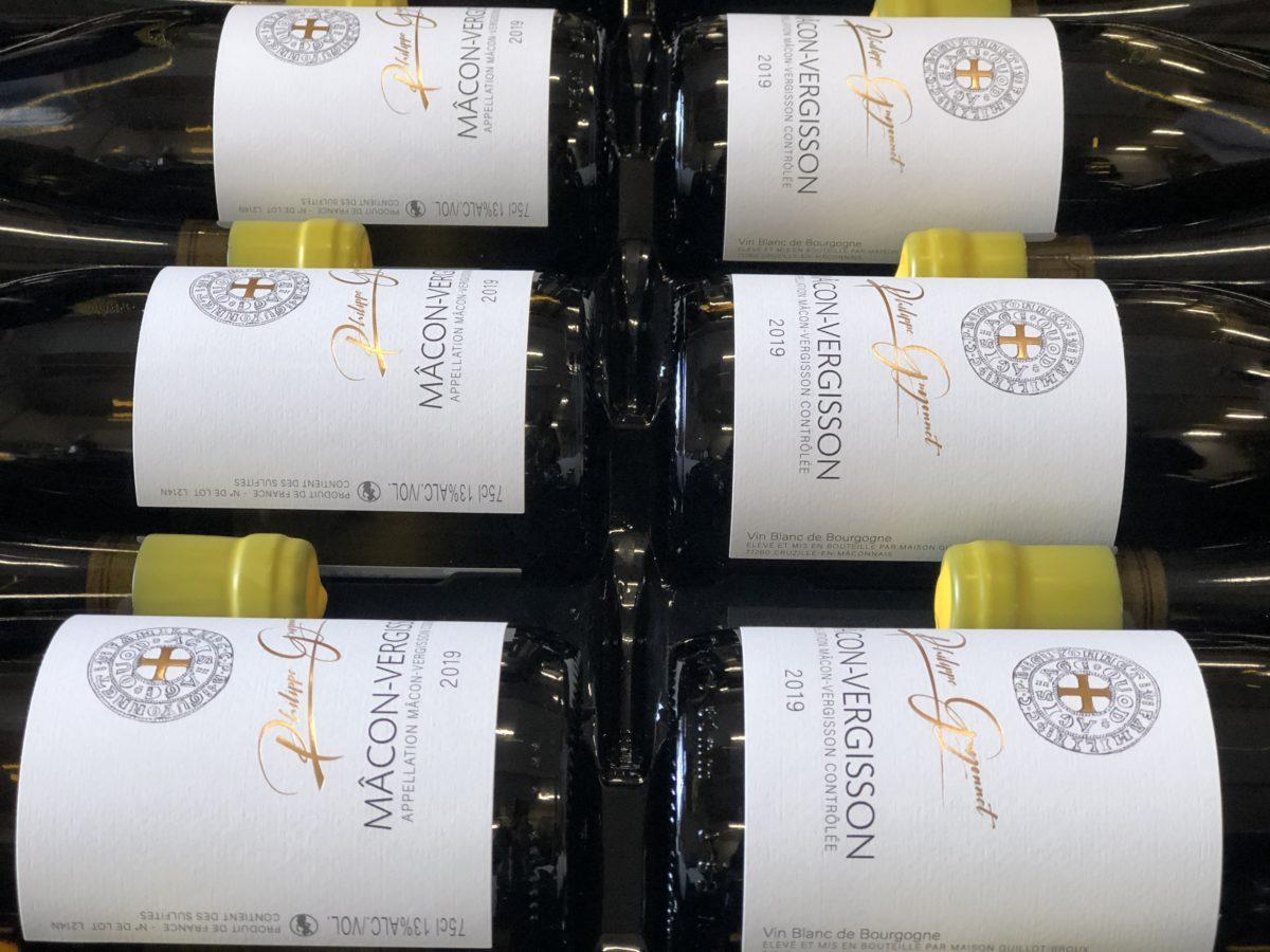 bouteilles de Mâcon-Vergisson du Domaine Philippe Guyonnet