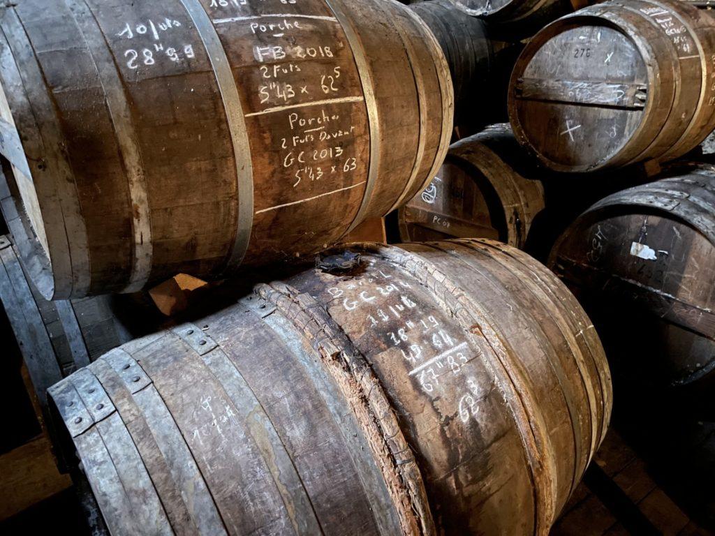 détail de barriques cognac Marencheville