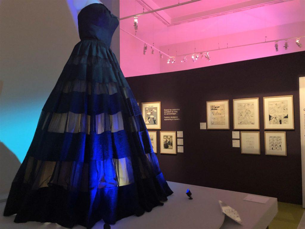 robe Dior dans l'expo Mode et BD