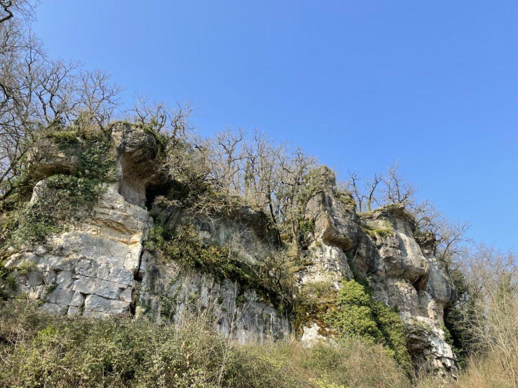 le falaises de calcaire surplombant la Tardoire