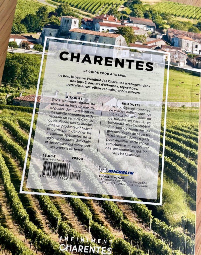 dernière de couverture du guide food & travel Charentes