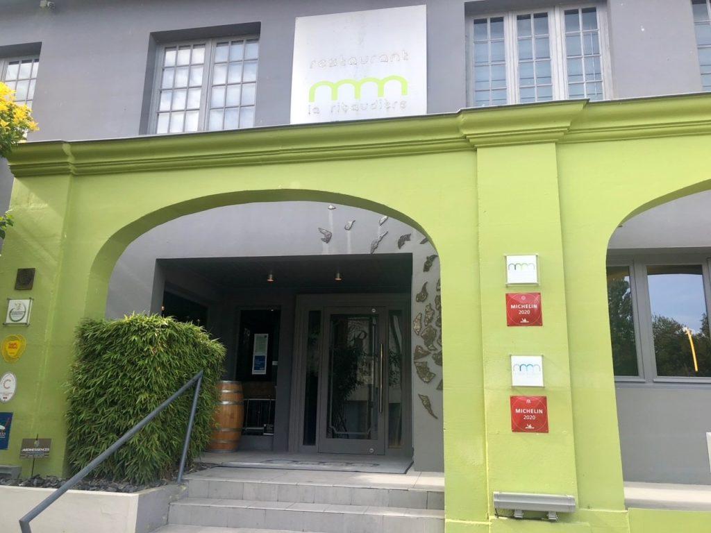 Entrée du restaurant La Ridaudière à Bourg Charente