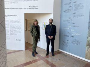 Pierre Lungheretti et Anne Loloum Frangeul dans la Cité Internationale de la Bande Dessinée et de l'Image