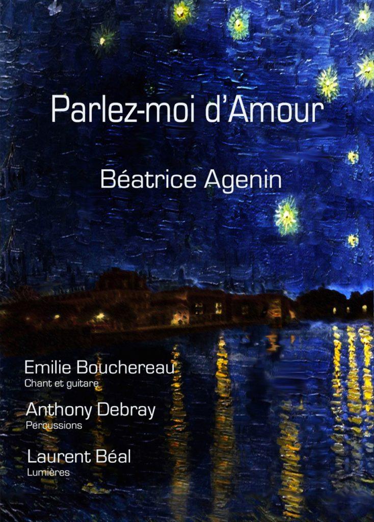 le programme de la soirée avec Béatrice Agenin lors du festival les 3 copus de Jarnac
